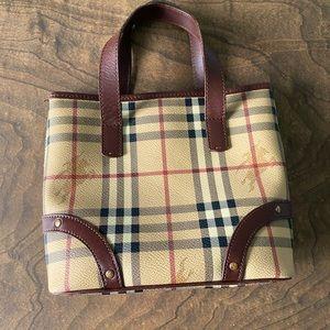 Vintage mini Haymarket Burberry tote